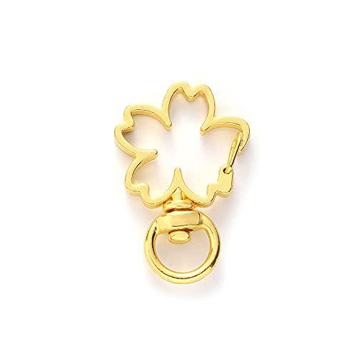 Broche De Presión Hebillas Llavero Llavero De Metal Ganchos De Cierre De Langosta Llavero Llavero De Coche Fabricación De Joyas Gift-13_Gold