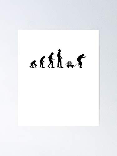 guyfam Evolution Man Day Poster - Best Gift for Your Parent and Peoples, Decorate Room. No Frame Board, 11.7