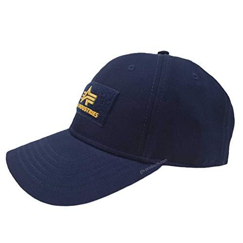 Alpha Industries VLC II Cap Black Streetwear 6-teiliges Basecap Baumwolle verstellbar, Farbe:repl.Blue