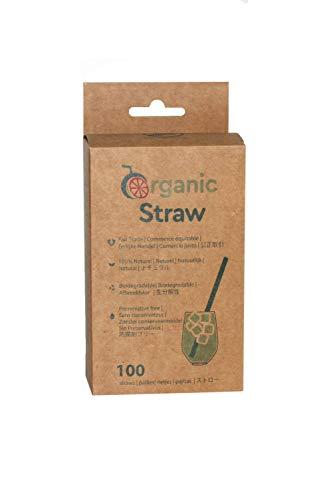 BIOWINK - Cannucce vegetali Organic Straws, 12 cm, confezione da 100
