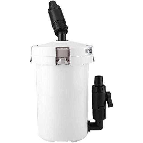 Aquariumfilter Aquariumbuitenfilter pomp silent lijst filterbak, tank filterpomp,White