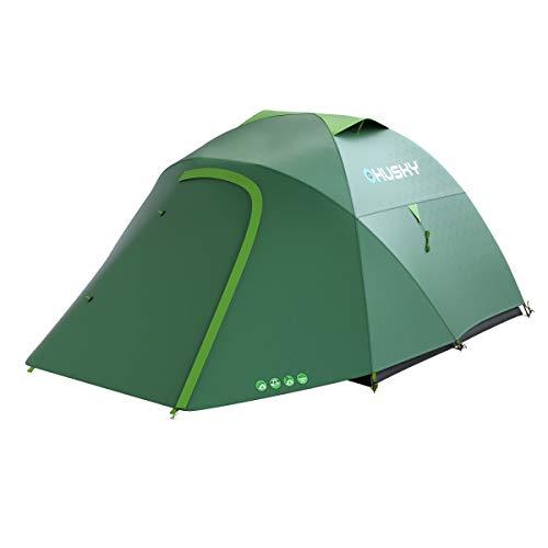 Husky, Tente Outdoor Bonelli 3 Vert avec Sac étanche
