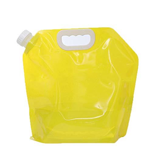 Yeyll Contenedor de tanque de agua plegable 5L BPA Free Plastic Water Carrier Portable Water Tank Ligero Ahorro de espacio al aire libre Bolsa de agua plegable para deporte, senderismo, camping