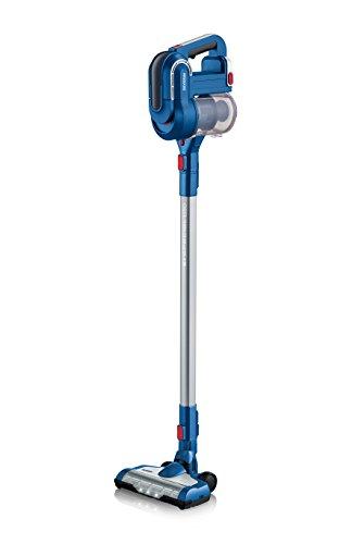 Severin HV 7160, Beutelloser Hand- und Stielsauger mit Elektrobürste, 22,2V Lithium-Ionen Akku, S´SPECIAL carPET & carpets Li 30, Blau/Rot