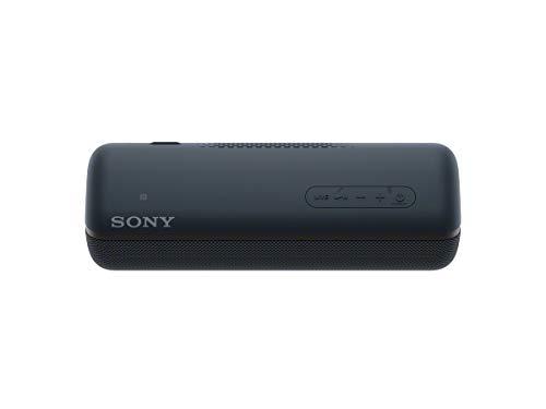Sony SRS-XB32 Speaker Compatto Portatile con Extra Bass, Resistente all'Acqua, Luminoso, Nero