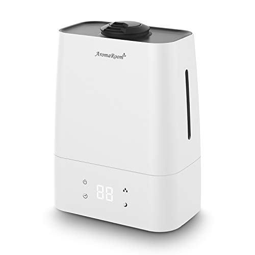 Aroma Room Cool Mist Humidifier, 5.5L Air Humidifiers for Large Room Babies, Ultrasonic Humidifier Diffuser with Essential Oil Tray,Home Vaporizer with LED Display,360° Nozzles,Waterless Auto Shut-Off