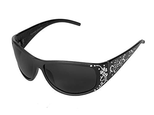 VOX Polarisierend Trendy Klassisch Hohe Qualität Damen Hot Modische Sonnenbrille w/GRATIS Mikrofaser Beutel - Schwarzes Gestell - Rauchglas