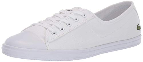 Lacoste Women's Ziane Sneaker, White, 9 Medium US