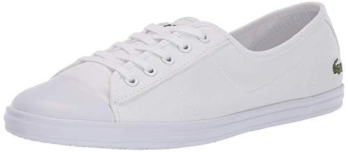 Lacoste Women's Ziane Sneaker, White, 6.5 Medium US