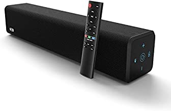 BESTISAN Sound Bar with Bluetooth 5.0 and Wired Connections, Home Theater Audio Sound Bars for TV (20 Inch, 50 Watt, 3 Modes, Bass Adjustable, Wall Mountable, Deep Bass) 2021 Upgrade Model