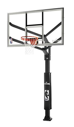 Spalding Arena View H-Series Glass In-Ground Basketball Hoop