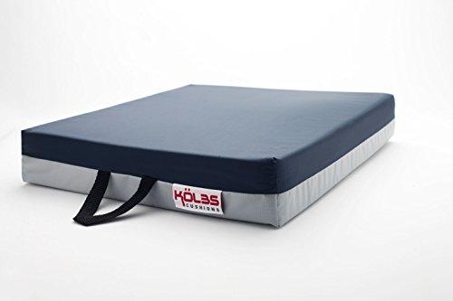 Kölbs Cushions Gel Supreme Wheelchair Seat Cushion, 20 X 18 X 3 Inch, Blue/Gray