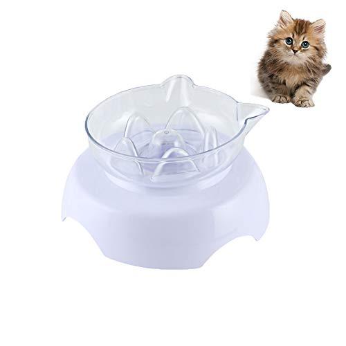 Koomiao Futternapf Katze 15 Degree Tilt Anti-Schling-Napf für Hunde und Katzen, Pet Food Bowl mit Hochstand für kleine Hunde und Katzen (Single)