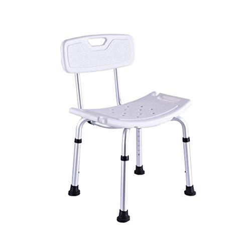 ZXY-NAN Bathroom Wheelchairs Shower Stool Bathroom Safety Disabled Adjustable Bath Chair Can Lift with Backrest Bath Bench Seat Shower Chair Bath Stool,Bathroom
