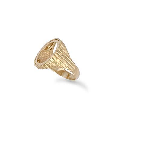 Ring aus 9 Karat Gold, gerippt, Krugerrand