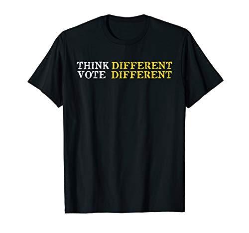 Vintage Distressed Libertarian Think, Vote Different