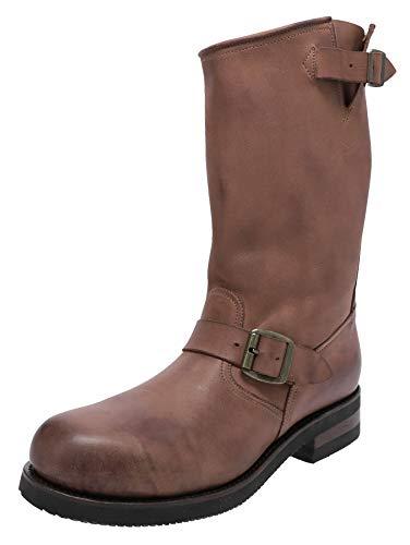 FB Fashion Boots Botas de motorista unisex 1590-6, con puntera de acero, color marrón, color Marrón, talla 43 EU