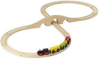 Wooden Toys 20-Piece Wooden Train Set - Multicolor [100121]