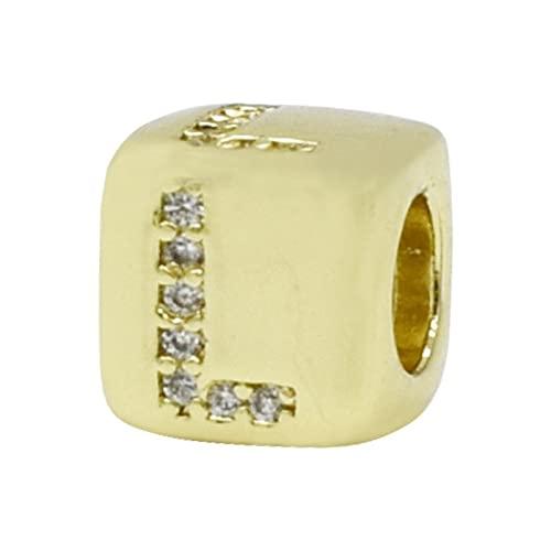 Wuluwala diamond square letter beads diy accesorios de joyería accesorios de cuentas collar de circón pulsera herramientas hechas a mano