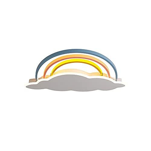 WenKaiLi Forma de arco iris Color LED LED de montaje enrojecimiento Luz de techo, emisor lateral, regulable (3000k / 4500k // 6000k) Lámpara de techo, pantalla de acrílico creativo cerca de Luminarias