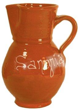 Terra Cotta Spanish Sangria Pitcher - 1.3 quart / 1.5 liter