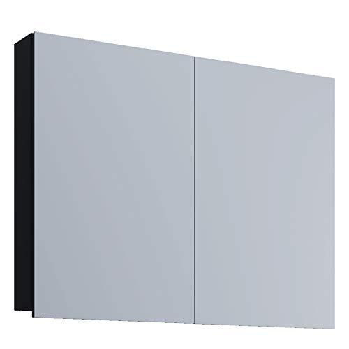VCM Spiegelschrank Badspiegel Spiegel Badezimmer Hängespiegel VCB 1-60 cm ohne LED-Beleuchtung, Schwarz