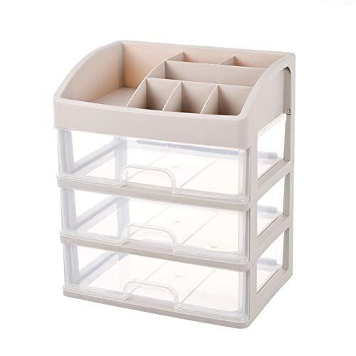 Organizador de cosméticos para aparador, dormitorio, baño, de gran capacidad, caja de almacenamiento con cajón y bolsa de maquillaje (color : C2-3 capas)