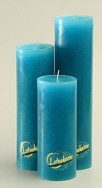 Guru-Shop Lotus Kaars Trend Turquoise, Lengte: 23 cm, Kaarsen