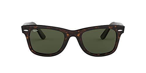 Ray-Ban Original Wayfarer Classic Occhiali da sole, Marrone (Tortoise Frame With Green G/15 Lenses), 54.0 Unisex-Adulto