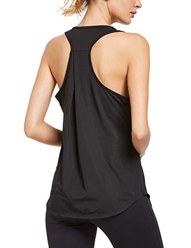 BALEAF Women's Workout Yoga Tank Tops Racerback Shirts Athletic Sports Gym Tops Black Size XL