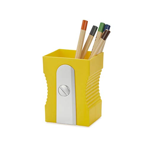 Balvi Porta matite Sharpener Colore Giallo Mantenere la scrivania organizzata Originale e Divertente a Forma di temperamatite portamatite Plastica ABS/PP
