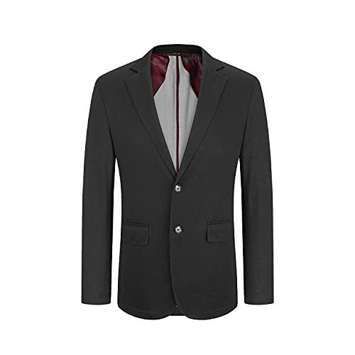 Chaqueta de Traje para Hombre Blazer Slim Fit Casual de Negocios Chaqueta Antiarrugas Básica Entallada Trajes de Primavera y Verano