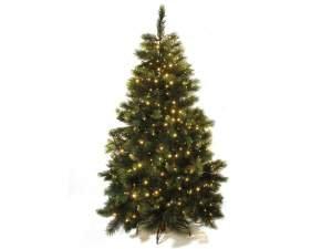 Albero di Natale Pino artificiale Alaska 350 rami e 540 luci gialle