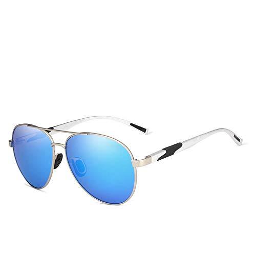 FUZHISI Sonnenbrillen 2019 Gradient Sunglasses Men Sonnenbrille Polarisiertes HD Aluminium Fahren, Blau