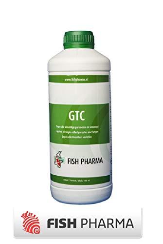 Fish Pharma GTC 1 Liter - wirksam gegen Einzeller Parasiten und Pilz für 20qm³ Koi Teich