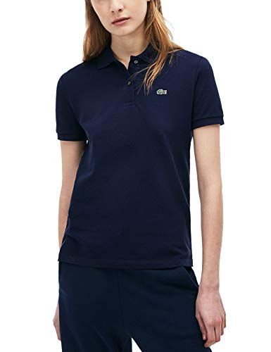 Lacoste PF7839 t-Shirt Polo, Bleu Marine, 36 para Mujer