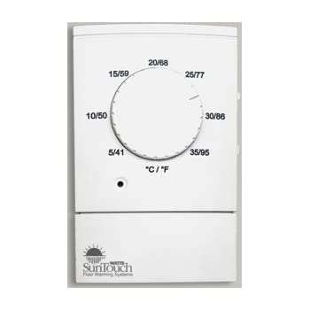 Suntouch Dial Non Programmable Floor Heat Thermostat 120 240 Dual Voltage Gfci Nonprogrammable Household Thermostats Amazon Com