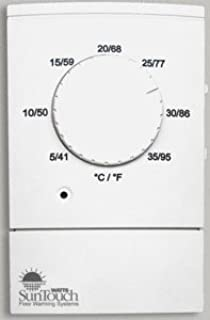 SunTouch Dial Non Programmable Floor Heat Thermostat 120/240 Dual Voltage GFCI