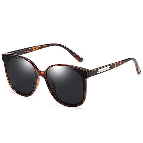 MOMAMOM Gafas De Sol Polarizadas Mujer ProteccióN UV Aire Libre Conducción Vintage CláSico Lentes Piloto Viaje Neutrales Moda Ovalada Ligero Marco Golf Elegante Tortoiseshell Frame