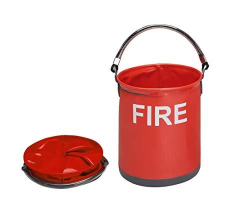 Faltbarer Notfall Feuereimer vonColapz–Raumsparender Feuerlöscheimer fürs Camping, den Wohnwagen und das Wohnmobil – 9 Lite