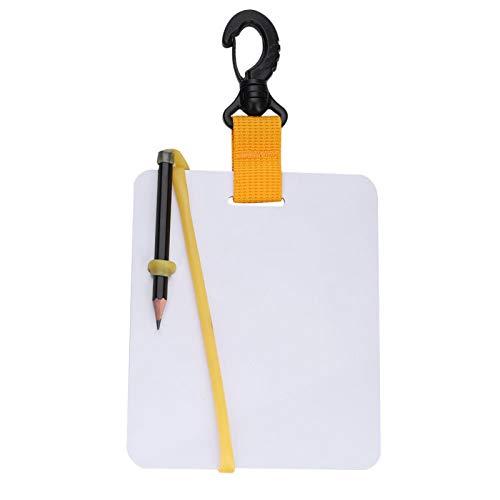DAUERHAFT Pizarra de Escritura Blanca práctica, para Deportes acuáticos al Aire Libre