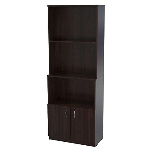 Inval Cabinet Bookcase, Espresso-Wengue