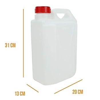 Linxor France ® Bidon en plastique (PEHD) pour usage alimentaire avec bouchon + robinet - 5L