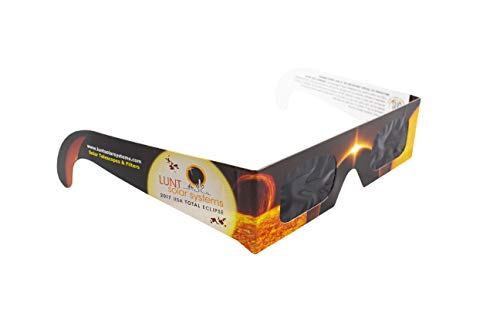 Lunt Solar Systems Solar Eclipse Glasses - 5 Pack Premium CE & ISO Certified, Safe shades for Direct Sun Viewing - Protect Eyes from Harmful Rays During Solar Eclipse