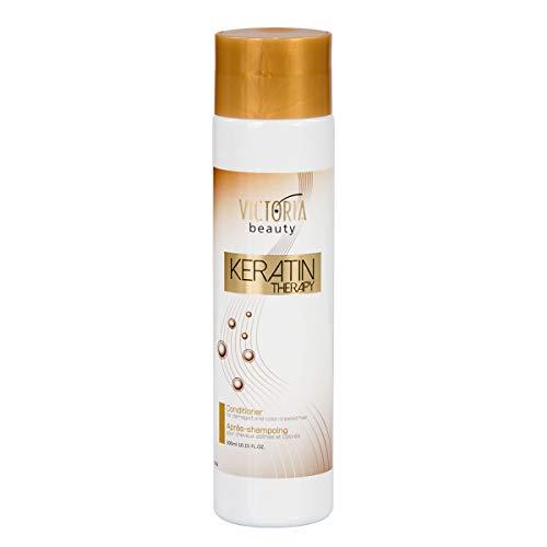 Victoria Beauty - Haarspülung, Conditioner mit Keratin für dauerhafte Haarglättung, geeignet für gefärbtes und geschädigtes Haar - Haarreparatur, Haarwachstum, Hair Treatment (1 x 300ml)