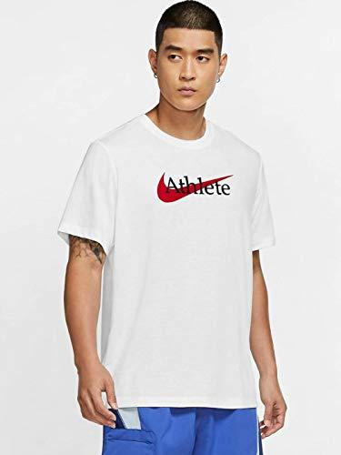 NIKE M NK DB tee SW Athlete T-Shirt, White/University Red, 4XL Mens