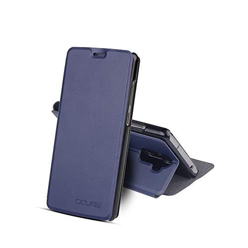 Funda para Oukitel K8 de PU Cuero Leather con Ranuras para Tarjetas y Billetes Carcasa para Oukitel K8 de Excelente Resistencia y Parachoque.Cubierta Enrrollada Perfectamente al Móvil Azul