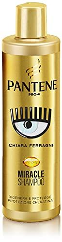 Pantene Pro-V by Chiara Ferragni Shampoo Protezione Cheratina Rigenera & Protegge Shampoo Per Capelli Danneggiati, Edizione Limitata, 250 ml