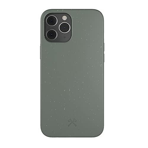 Woodcessories - Handyhülle kompatibel mit iPhone 12 Hülle grün, iPhone 12 Pro Hülle grün - Nachhaltig aus Pflanzen