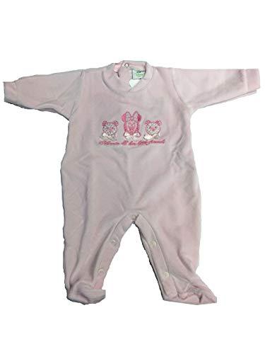 Character World Abbigliamento-Tutina Intera Neonato Grenouillère, Rose (Rosa), 52 (Taille Fabricant: XX-Small) Bébé garçon